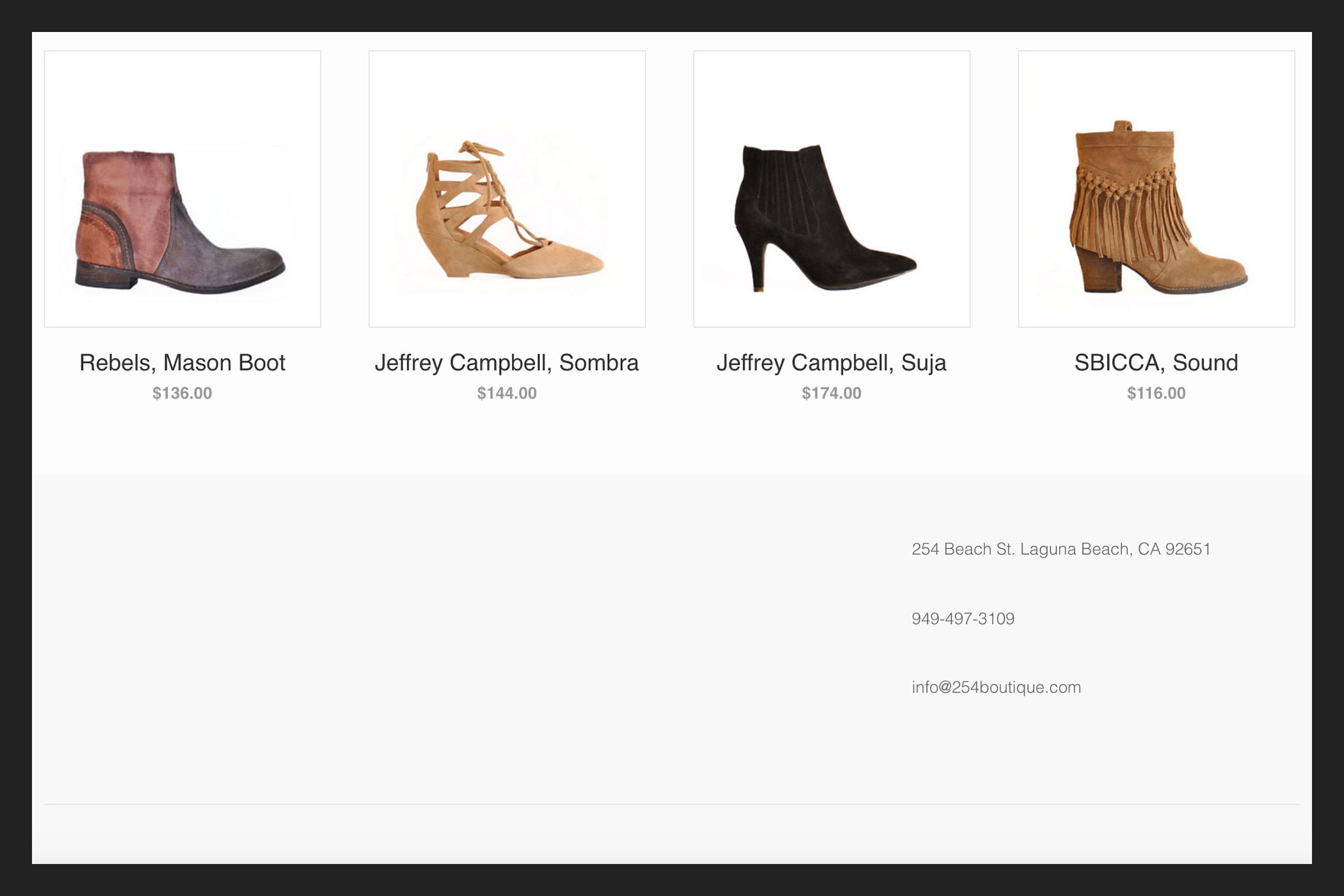 shoes, website